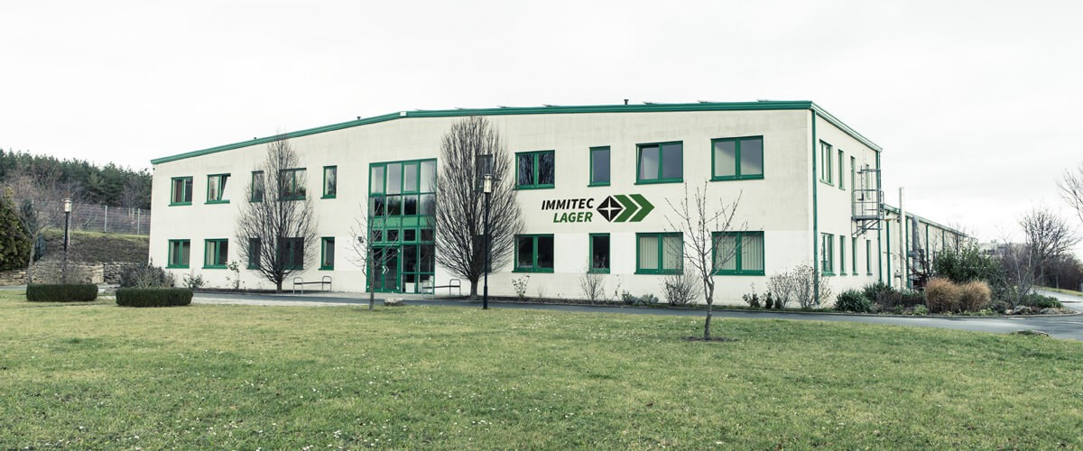 Ansicht des Firmengebäudes von immitec Lager